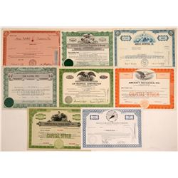 Miscellaneous Air Stock Certificates  (103420)