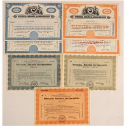 National Airlines, Incorporated Stock Certificates  (102610)