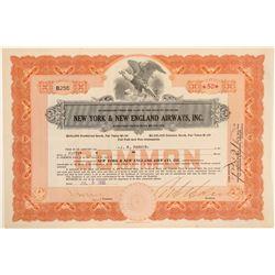 New York & New England Airways, Inc. Stock Certificate  (102602)