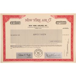New York Air Stock Certificate--Specimen  (102601)