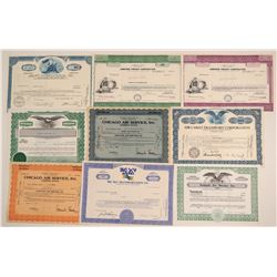 Nine Air Freight Companies Stock Certificates  (102555)