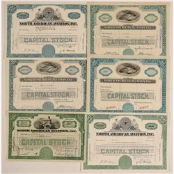 North American Aviation, Inc. Stock Certificates (NASA)  (102611)