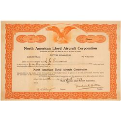 North American Lloyd Aircraft Corp. Stock Certificate  (102563)