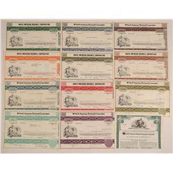 North American Rockwell Corporation Stocks & One Bond  (102599)