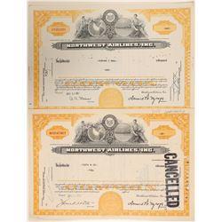 Northwest Airlines, Inc. Stock Certificates  (102565)