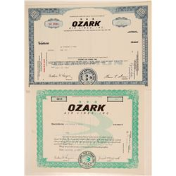 Ozark Air Lines, Inc. Stock Certificates  (102566)