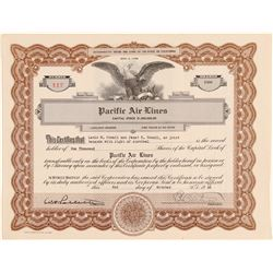 Pacific Air Lines Stock Certificate  (102568)