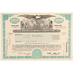 Pan American World Airways, Inc. Stock Certificate  (102570)