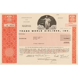 Trans World Airlines (TWA), Inc. Stock Certificate  (102572)