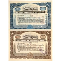 American Motor Transportation Co. Stock Certificates  (103429)