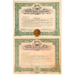 Belmont Motors Corporation Stock Certificates  (103458)