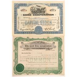 E. L. Cord Stock Certificates  (91640)