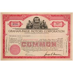Graham-Paige Motors Corporation Stock Certificate  (103459)
