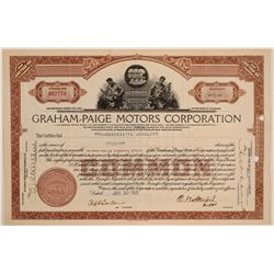 Graham-Paige Motors Corporation Stock Certificate  (103460)