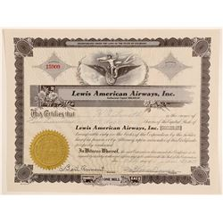 Lewis American Airways, Inc. Stock Certificate  (102585)