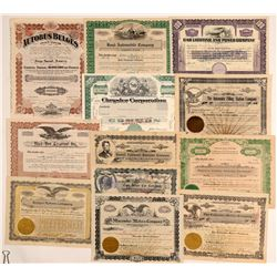 Miscellaneous Auto Stock Certificates  (103454)