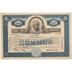 Moon Motor Car Company Stock Certificate  (103422)