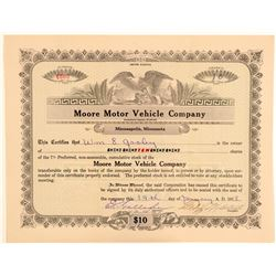 Moore Motor Vehicle Company Stock Certificate  (103427)