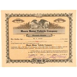 Moore Motor Vehicle Company Stock Certificate  (103428)