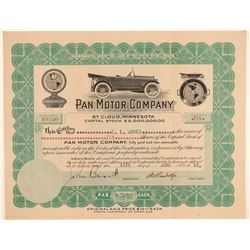 Pan Motor Company Stock Certificate Signed by Pandolfo  (103440)