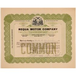 Requa Motor Company Stock Certificate  (103435)