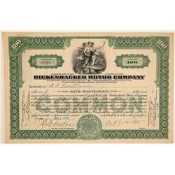 Rickenbacker Motor Company Stock Certificate  (103439)
