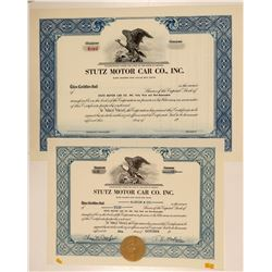 Stutz Motor Car Co., Inc. Stock Certificates  (103433)