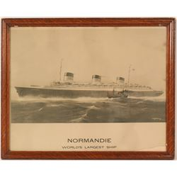 Normandie, World's Largest Ship Print  (91507)