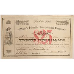People's Protective Transportation Company - Xrare Scrip Certificate  (91946)