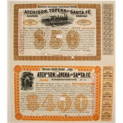 Atchison, Topeka & Santa Fe Gold Bond Script  (82252)