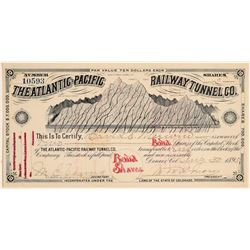 Atlantic-Pacific Railway Tunnel Co. Bond/Stock (104847)