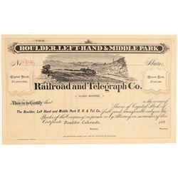 Boulder, Left-Hand & Middle Park Railroad and Telegraph Co.  (104891)
