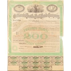 California Pacific Railroad Co. bond  (101279)