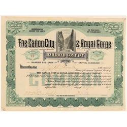 Canon City & Royal Gorge Railroad Co.  (104869)