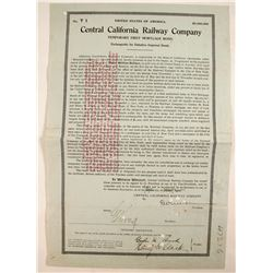 Central California Railway Co. - 1st Mortgage  (82227)