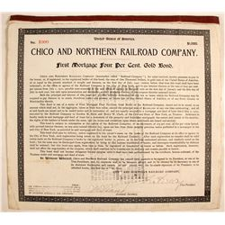 Chico and Northern Railroad Co., 1st Mortgage  (82220)