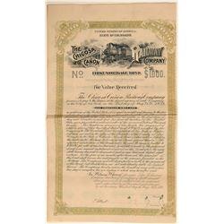 Chicosa Canon Railway Co. Bond  (104838)