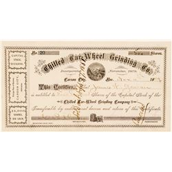 Chilled Car-Wheel Grinding Co. Stock Certificate   (100727)