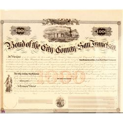 City & County of SF bond for San Francisco & San Jose Railroad Co.