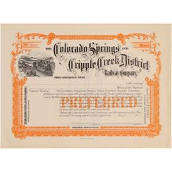 Colorado Springs and Cripple Creek District Railway Co.  (104897)