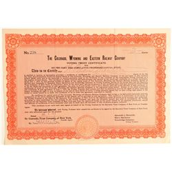 Colorado, Wyoming and Eastern Railway Co. Voting Trust Certificate (104878)
