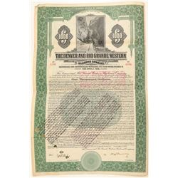 Denver & Rio Grande Western Railroad Co. Green Bond  (104888)