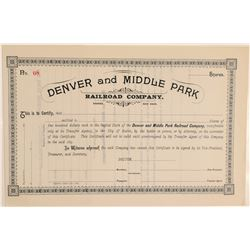 Denver and Middle Park Railroad Co.  (104890)