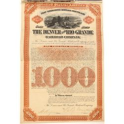 Denver and Rio Grande Railroad Co. Bond (104823)