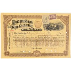 Denver and Rio Grande Railroad Co. Brown Stock  (104863)
