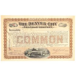 Denver City Railroad Co. Brown Stock  (104850)