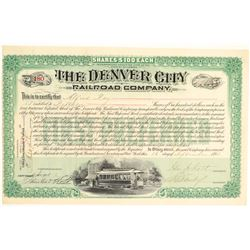 Denver City Railroad Co. Green Stock  (104851)