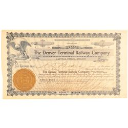 Denver Terminal Railway Co. Certificate Number 1  (104870)