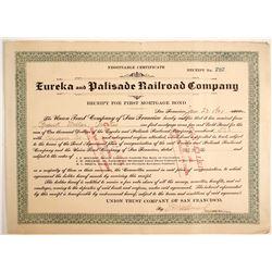 Eureka & Palisade Railroad Company Bond  (77256)
