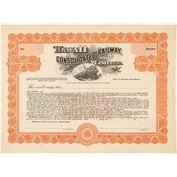 Hawaii Consolidated Railway, Ltd. Stock Certificate  (101542)